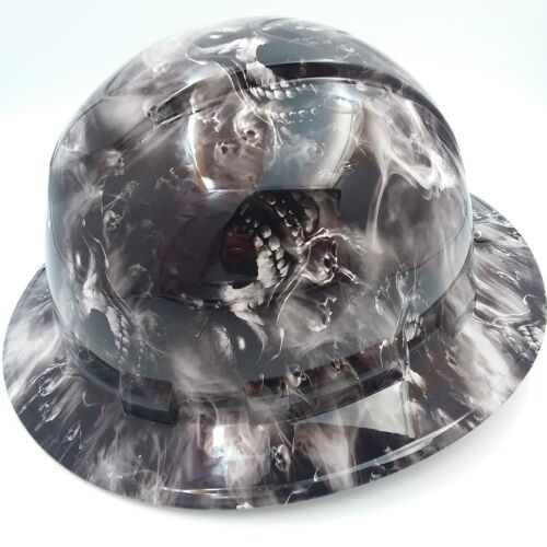 Hard Hat custom hydro dipped , OSHA approved FULL BRIM,HELL HAVE NO MERCY HADES 2