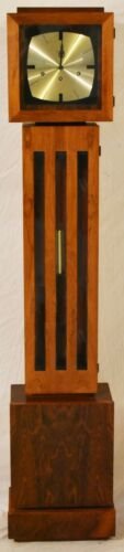 Colonial Company Mid Century Modern Rosewood Grandmother Clock