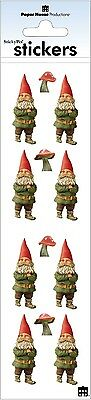 - Scrapbooking Stickers Paper House Slim Gnomes Mushrooms Red Hats Green Repeats