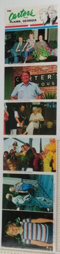 Jimmy Carter 1970s Rosalyn Family Postcard Set Tourist Plains GA Lillian Billy