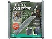 Folding car dog ramp