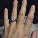 Lost woman engagement ring