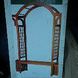 Brand new in box solid wood arbour with planter boxes and bench