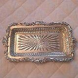 Marlboro Silver Plate Relish/Large Butter Dish with Glass Liner