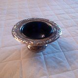 Marlboro Silver plate Domed Butter Dish with Cobalt Liner