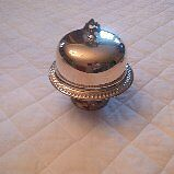 William Rogers Silver Plate Domed Butter Dish with Insert