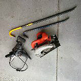 Circular Saw Heavy Duty Drill and Two Crow Bars