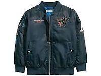 New Navy blue Boys bomber jacket