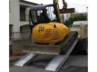 aluminium loading ramps for ifor williams trailer and machinery