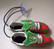 Soccer Boots with Suction Cup to Hang Inside your Car Window