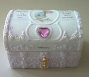 Precious Moments February Birthstone Hope Chest