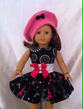 """Paris 18"""" Doll Clothes fits Amer. Girl, Our Generation, Cdn Mapl"""