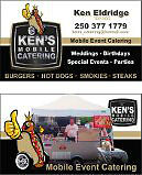 KENS MOBILE CATERING 250-377-1779 BOOKING FOR 2017