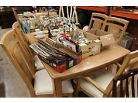 Oak Table and 6 Chairs and matching Sideboard