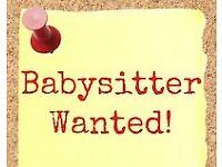 Evening babysitter wanted