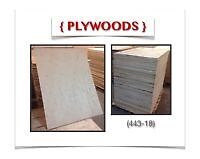 "(443-18)  LIQUIDATION..  PLYWOODS {36""x 48""x 5/8""} 5.99$ /ch."
