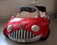 Built a Bear Red Convertible Sports Plush Car