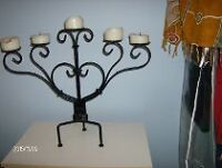 CHANDELIER FER FORGE noir ANTIQUE