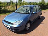 2002 FORD FOCUS 5 DOOR, NEW CAMBELT, C/D PLAYER, ONLY 2 FORMER OWNERS. LONG MOT