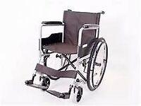 Manual 'Angel' Wheelchair, Large back wheels, dual brake system, lightweight folding