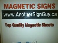 Magnetic car/truck signs