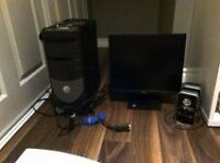 Computer, Monitor, Wireless USB Adapter and Speakers For Sale!