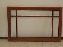 solid wood antique window frames