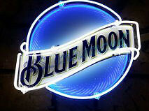 Enhanced Blue Moon neon sign
