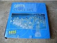 Glass chess set, NEW