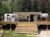 37ft Kingsport Trailer w 3 slideouts - Move in ready site!