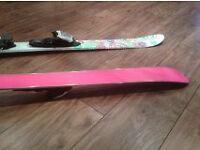 Pink Girls K2 Skis and Dynastar ski poles