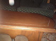 Solid  Antique, Maple  Coffee Table With Brass Accents!!! Kitchener / Waterloo Kitchener Area image 3