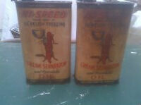 VINTAGE  CREAM SEPARATOR OIL CANS NEVER OPENED
