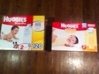 2 boxes of size 2 diapers