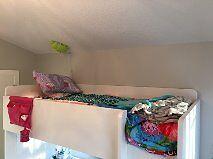 White STUVA Twin Loft Bed with Desk