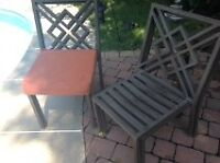 metal four piece set with cushions