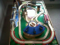 Thomas train table including trains and extra track