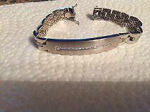 bracelet 18 carats blanc serti de diamants