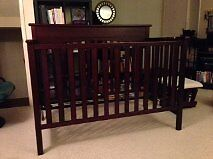 Graco crib and extras
