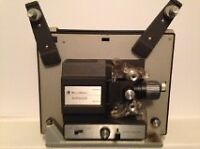 8mm Projector, case and Screen