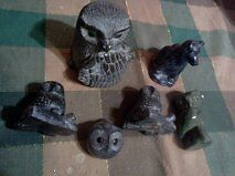 SCULPTURES BY WOLF 18 TOTAL 4 MORE SOAPSTONE $300 O.B.O