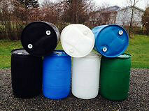 Plastic dock rain barrel -R