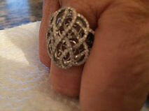 bague diamants 18 carats or blanc UNE AUBAINE