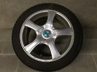 Winter tires with aluminum wheels
