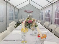 tents available for events/weddings, parties, folk festival