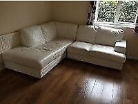 (real) leather corner sofa delivery available