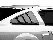 FORD MUSTANG SIDE WINDOWS LOUVER BLACK COVER 2005 2011 2012 2013