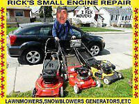 RICKS  (MOBILE) LAWNMOWER , SNOWBLOWER, POWER WASHER AND GENERAT
