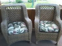 2 NEW RESIN WICKER CHAIRS