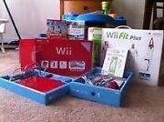 Nintendo Wii New Super Mario Bros. Pack Red Console